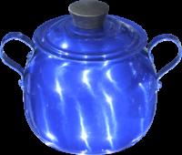 Açucareiro Alumínio Bojudo Azul - 500 Gr