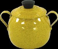 Açucareiro Alumínio Bojudo Amarelo - 500 Gr